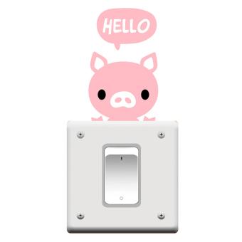 Amango Switch Sticker Hello Little Pig Removable Wall Decor