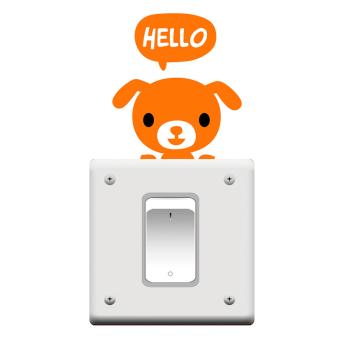 Amango Switch Sticker Removable Dog Vinyl Wall Decor