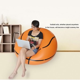 Amart Inflatable Lazy Sofa Bean Bag Chairs Bedroom Furniture (Basketball) - intl