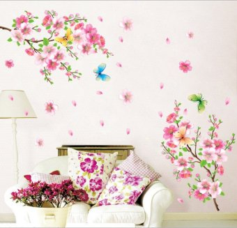 Amart Removable Wall Stickers sDecorate Peach Blossom Wall Stickers
