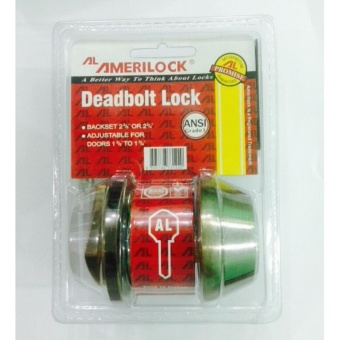 Amerilock Single Cylinder Deadbolt (Antique Brass)