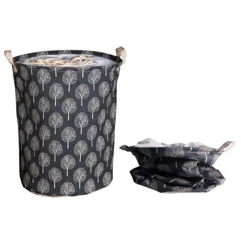 Andux Cotton Laundry Basket Foldable Hamper Storage Barrel with Handles ZYL-01 - 2