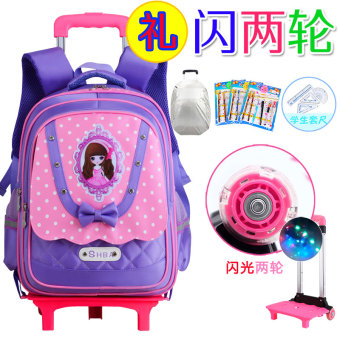 Anniversery girl's young student's school bag trolley school bag