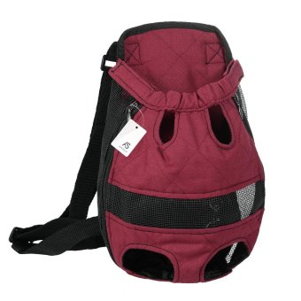 Anself Breathable Cute Canvas Pet Bag Puppy Dog Cat Carrier Headout Front Chest Backpack for Outdoor Travel Use Xl Size Canvas(Burgundy) - intl Price Philippines