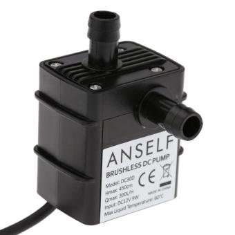 Anself Ultra-quiet Mini DC12V 9W Micro Brushless Water Oil Pump Waterproof Submersible Fountain Aquarium Circulating 300L/H Lift 450cm - intl - 3