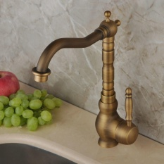 Antique Brass Kitchen Vessel Sink Faucet Mixer Taps Single Handle