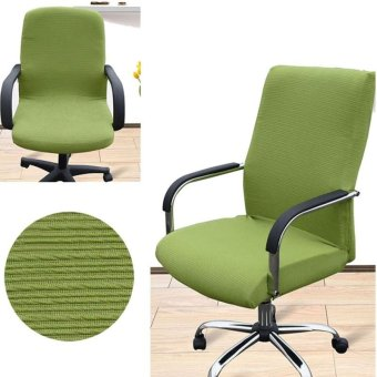 Arm Chair Cover S Size Office Computer Chair Cover Side ZipperDesign Recouvre Chaise Stretch Rotating Lift Chair Cover - intl