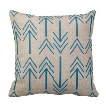 Arrow Cotton Double-Side Printing Pillow Case Cover (Multicolor)