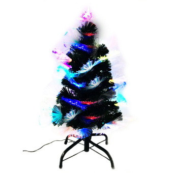 Artificial Christmas Tree w/ Built in Multicolored Lights On Tip 8Ft/240cm - 2