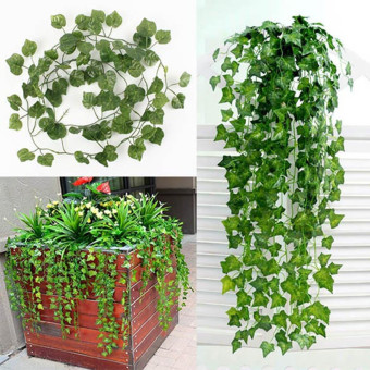 Artificial Ivy Vine Leaf Garland Plants Fake Foliage Flowers DecoGreen Price Philippines