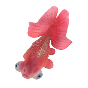 Artificial Silicone Swim Electronic Robofish Toy Fish Robotic Fishing Tank (Red) - intl