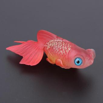 Artificial Silicone Swim Electronic Robofish Toy Fish Robotic Fishing Tank (Red) - intl - 4