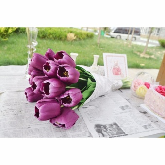 Artificial Tulip Single Long Stem Bouquet Flower - intl