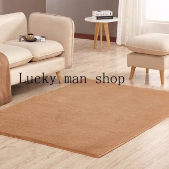 As Seen On TV Malaysia 40cm x 40cm mini silk hair living roomcoffee table bedroom carpet Light BROWN