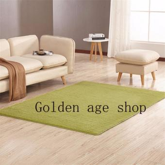 As Seen On TV Malaysia 40cm x 40cm mini silk hair living roomcoffee table bedroom carpet Light green