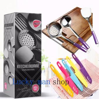 As Seen On TV Malaysia 8 in 1 Stainless Steel Kitchen Utensil andknife Set best gift