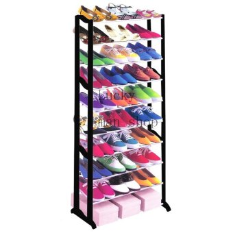 As Seen On TV Malaysia Best Quality Shoe Rack Black