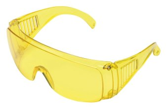 Astro ANSI CE Polycarbonate Visitor Safety Glasses Goggles UV AmberLens