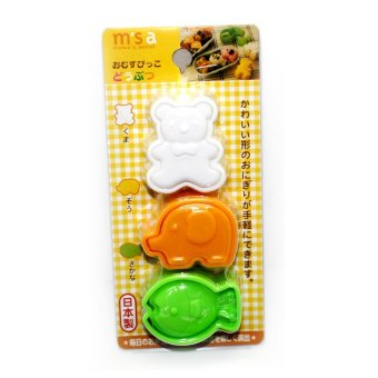 ASTV DIY Bento Cute Bear, Elephant, Fish rice/sushi Tool Set