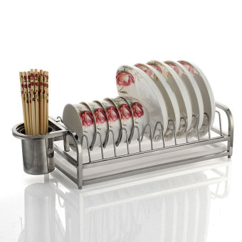Audia single layer kitchen drain dish rack stainless steel dish rack