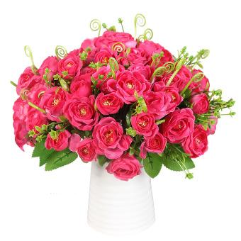 Aukey Heads Rose Silk Flower Set of 10 (Rose)
