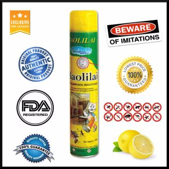 Authentic BaoLiLai FDA Registered Affordable Aerosol Insect SprayBIG Size 750ml Lemon Scent Insecticide