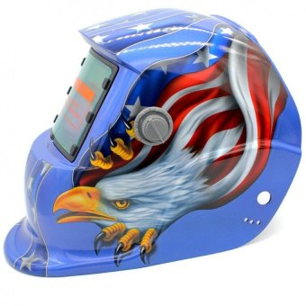 Auto Darkening Welding Helmet ARC TIG MIG Mask for Welding GrindingEagle Mask (Blue)