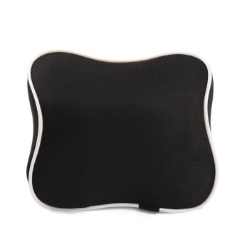 Auto Seat Pad Car Seat Headrest Memory Foam Cotton Neck Support Rest Pillow Black - intl