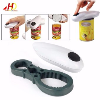 Automatic One Touch Can Opener Jar Openers Kitchen Helper Tool 2 in1 Multifunction Opener