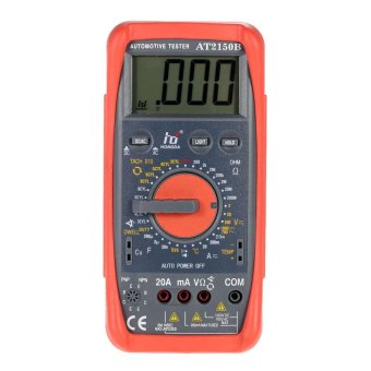 Automotive Meter Tester Digital Multimeter Tachometer Cap. Temp.Tester Sensor w/ LCD Backlight - intl