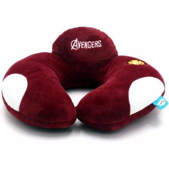 Avengers U Shaped Travel Pillow Neck Support Head (Maroon)