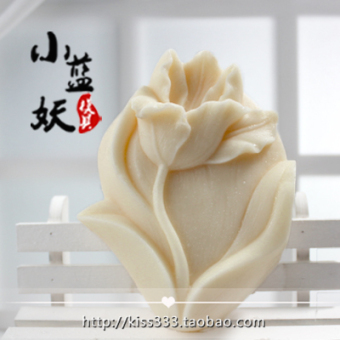B1553diy lily flower handmade fragrant soap
