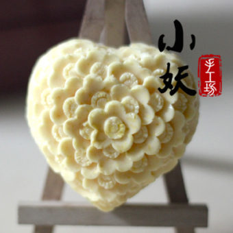 B1713diy heart-shaped flower handmade fragrant soap