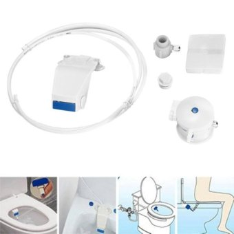 B8100 Sanitary Wall Smart Flushing Clean Tool Toilet Bidet Set(White) - intl