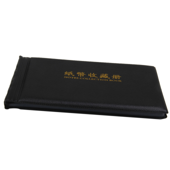 Banknote Currency Collection Album Paper Money Pocket Holders 30 Pages Black - 4