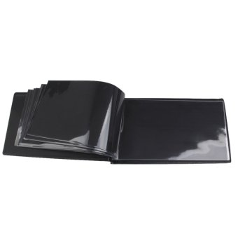 Banknote Currency Collection Album Paper Money Pocket Holders 30 Pages Black - 5