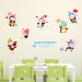 Baobao cartoon decorative wallpaper sticker bedroom wall adhesive paper wall stickers
