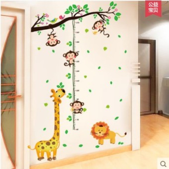 Baobao cute children measuring height wall stickers