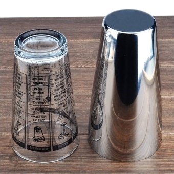 Bar stainless steel American glass cocktail shaker snow grams of pot