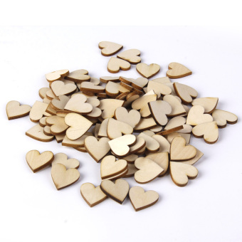 Basswood Blank Peach Heart Embellishments For Diy Crafts 20mm 100pieces