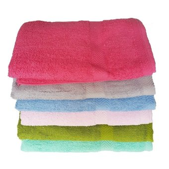 Bath Towels Set of 6 (Multicolor)