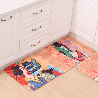 Bathroom absorbent floor mat