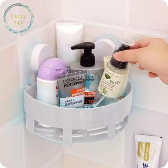 Bathroom Corner Storage Shelf Holder Organizer (White)