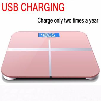 Bathroom Scales Intelligent electronic scales weight scales (Pink)- Intl