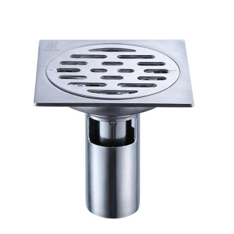 Bathroom Shower Floor Drain SUS304 Stainless Steel Square Shower Drain Strainer with Removable Cover,Polished Finish - intl