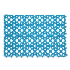 Bathroom Shower Room Floor Mat Rug Anti Slip Plastic MulticolorBlue