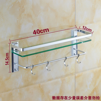 Bathroom wall hangers towel rack bathroom shelf