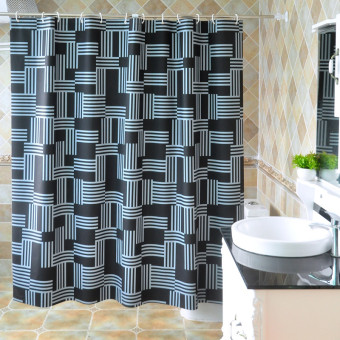 Bathroom waterproof shower curtain cloth