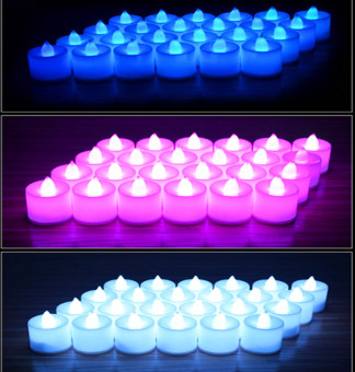 Battery-powered Flameless LED Tealight Candles Fairy Lights