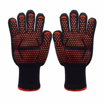 BBQ Grilling Cooking Gloves, 932?F Heat & Flame ResistantGloves - 1 Pair - intl